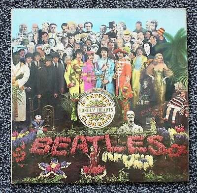 THE BEATLES - SGT PEPPER  * RARE 1970s UK RELEASE - FRENCH MARCONI PRESSING *