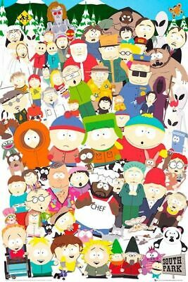 297317 South Park Character Collage Wall Poster Print Uk