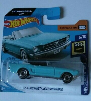 '65 Ford Mustang Convertible Hot Wheels 2020 Case C Hw Screen Time 5/10 Mattel