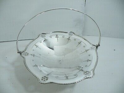 Vintage Silver Plated Tea Cake Stand Swing Handle