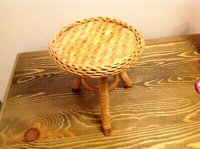 Vintage wicker table for  teddy bear /doll /display