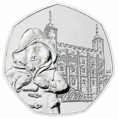 Uncirculated Paddington Bear 50p Coin.Tower of London 2019 from Sealed Bag.