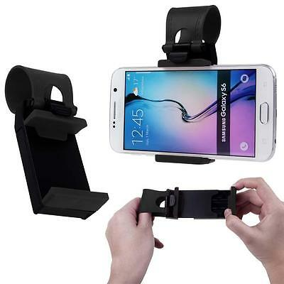 Portable Car Steering Wheel Mount Socket GPS Clip Holder Stand For Cell Phones