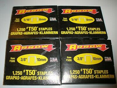 Lot of 4 NEW Arrow #506 T50 Staples Packages