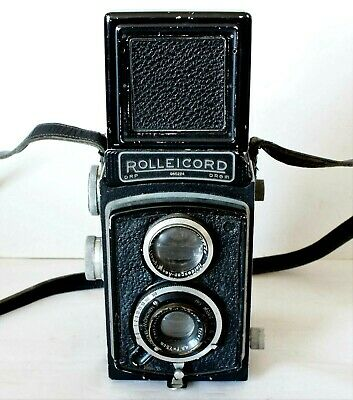Rolleicord Ia Model 3 1947 Twin Lens Reflex With Rolleikin 35mm Adapter Fitted