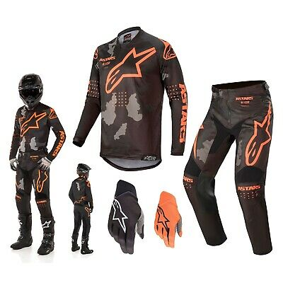 Alpinestars Racer Tactical schwarz orange Combo MX Motocross Jersey Crosshose
