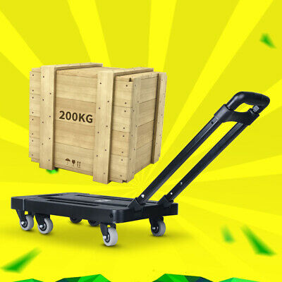 Portable Foldable Luggage Trolley Cart for Car Travel Luggag Trailer Chassis
