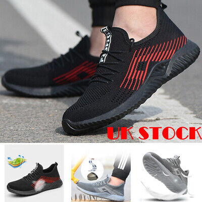 Mens Steel Toe Mesh Safety Shoes Work Boots Sports Hiking Trainers Sneakers M1