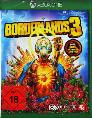 Borderlands 3 +Gold-Waffen Skin Pack - Xbox ONE - Neu & OVP - Deutsche Version