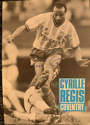 Signed Cyrille Regis Coventry City FC West Bromwich Albion FC Football Autograph