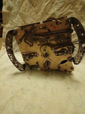 Old Smiths Enfield Clock Movement For Spares Or Repairs No 8
