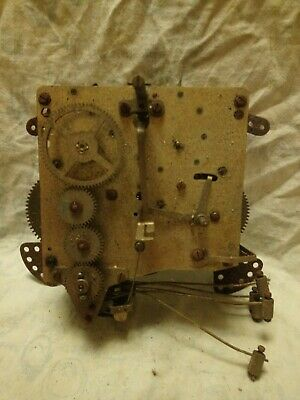 Old Haller 12 Cm Clock Movement For Spares Or Repairs No 9