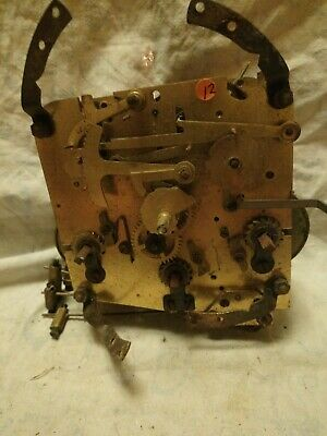Old Foreign Clock Movement For Spares Or Repairs No 12