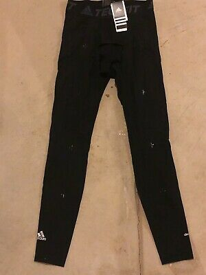 adidas Tech-Fit Recovery Mens Size Large (L) Long Compression Tights - Black