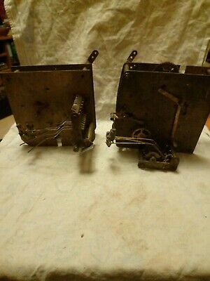 Two Large Part Clock Movements For Spares Or Repairs
