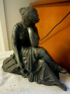 antique clock topper the thinker ansonia new haven original