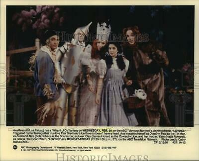 "1991 Press Photo ""Wizard of Oz"" fantasy scene in ""Loving"" on ABC Television"