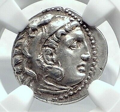 ALEXANDER III the GREAT Authentic Ancient 310BC Silver Greek Coin NGC i81670