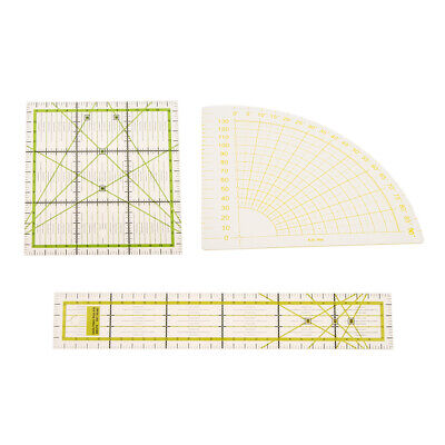 3pcs Rectangle/Square/Sector Quilting Patchwork Template Ruler Sewing Crafts