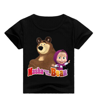Masha and the Bear Kid's Unisex T-Shirt Boys Girls AU Shop