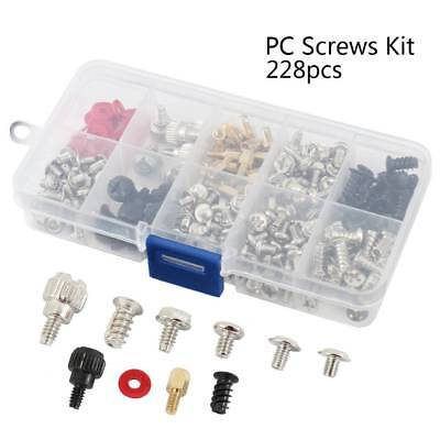 Computer PC Screws Kit for Motherboard Case Fan CD-ROM Hard Disk 228pc