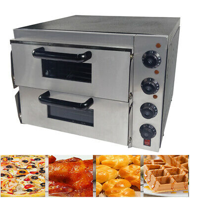 3000W Commercial Pizza Oven Double Deck Electric Catering Baking Oven Machine
