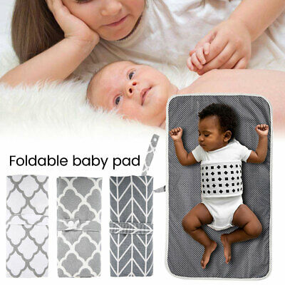 Washable Foldable Baby Mat Waterproof Diaper Changing Pad Portable Travel Nappy