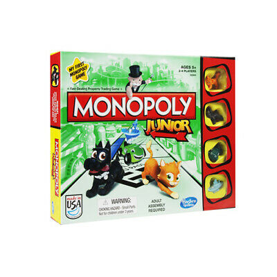 Hasbro Monopoly Junior Kids Childrens Board Game Family Fun Toy Gift 5+ Years