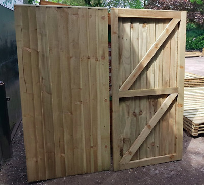 Custom Super Heavy Duty Fully Framed Garden Gates Pressure Treated Timber