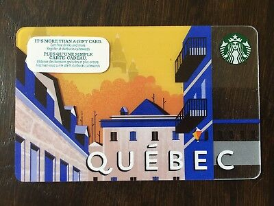 STARBUCKS 2014 QUEBEC CANADA - Gift Card - New - No Value