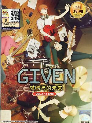 Anime DVD Given Vol.1-11 End English Subtitle Free Shipping