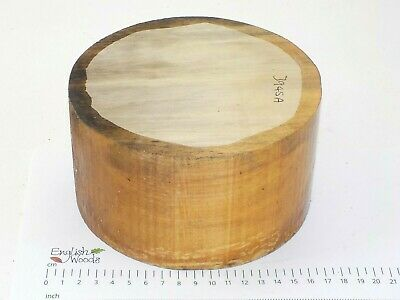 English Lime woodturning or wood carving bowl blank.  155 x 87mm.  3945A