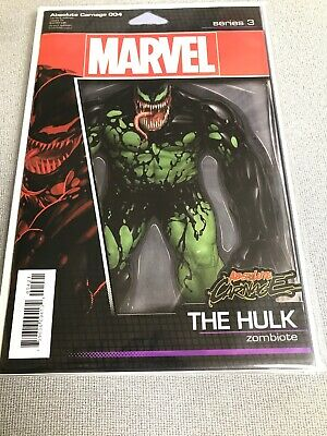 Absolute Carnage #4 (004-Venom / Hulk Zombiote Action Figure Variant-(9.6-9.8)
