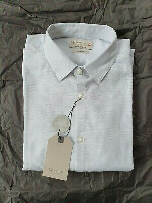 Zara Boys collection Slim Fit Shirt size 10 140cm light Grey Brand New with Tags