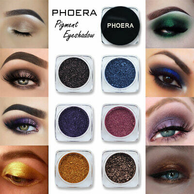 Phoera Pigment Eyeshadow Palette Loose Powder Shimmer Glitter Eye Shadow Makeup