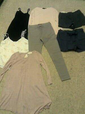 bundle of 7 size 8 items TROUSERS/SHORTS/TOP/DRESS/JUMPERS next/boohoo/new look