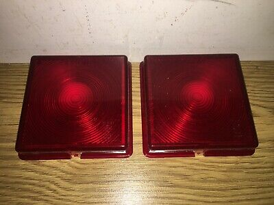 #New# Pair 'Rubbolite' Stop/Tail Lamp Red Lenses - Ifor Williams Trailers -5428A