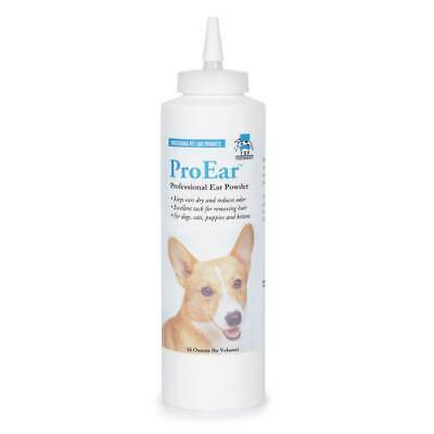 Professional Pet Grooming Ear Powder Healthy Dog Cat Care 16oz Squeeze Bottle