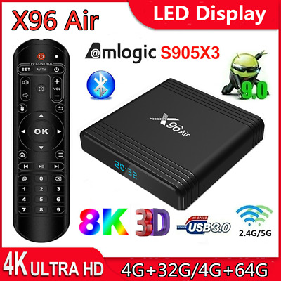 X96 Air 16G/32G/64G S905X3 8K Quad Core USB3.0 TV BOX Android 9.0 5G WiFi M6G6