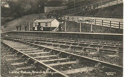 Holywell Town Railway Station. London & North Western Branch in Scotchers Series