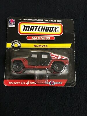 Vintage Matchbox Madness TACO BELL HUMVEE 1:64 Die Cast Car Truck 1998 - 1 of 4