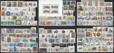 Germany BERLIN 1984-1990 - complete year sets - MNH (e53)