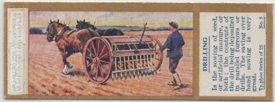 Horse Drawn Seed Drilling Machine Farming Agriculture 1930sTrade Ad Card