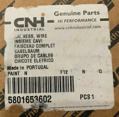 New   Case Cnh And New Holland Wire Harness  Part # 5801653602 New