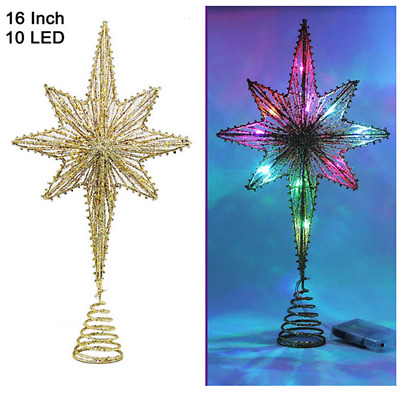 Twinkle Star Lighted Christmas Tree Topper LED Colorful Fairy Lights Decorations
