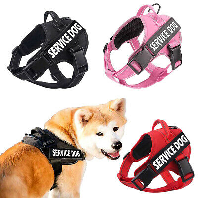 Service Dog 3M Harness Puppy No Pull With Handle 2 Free Patches Pet Vest Collar