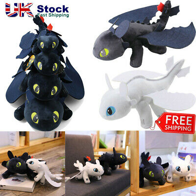 How To Train Your Dragon Plush Toothless Night Fury Soft Toy Doll Kids Xmas Gift