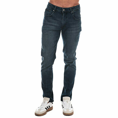 Mens Ben Sherman Stretch Slim Fit Jeans In Denim- Zip Fly- Slim Fit- Stretch