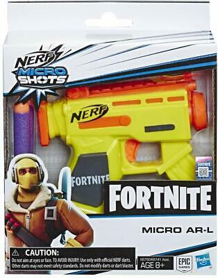 Official Nerf Fortnite Microshots Blaster Kids Toy Pistol Gun - MICRO AR-L