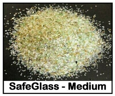 SafeGlass - Medium Grade - Crushed Glass - Soda Replacement Blasting Media -25KG